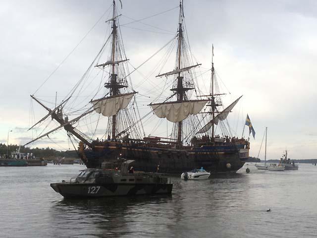 Foto av ostindiefararen Götheborg