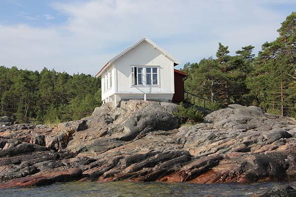 Foto av Albert Engströms ateljé i Grisslehamn